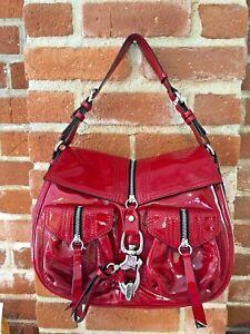 Francesco Biasia Handbag Rood lakleder Shoulder Genuine OtOqdxwrn