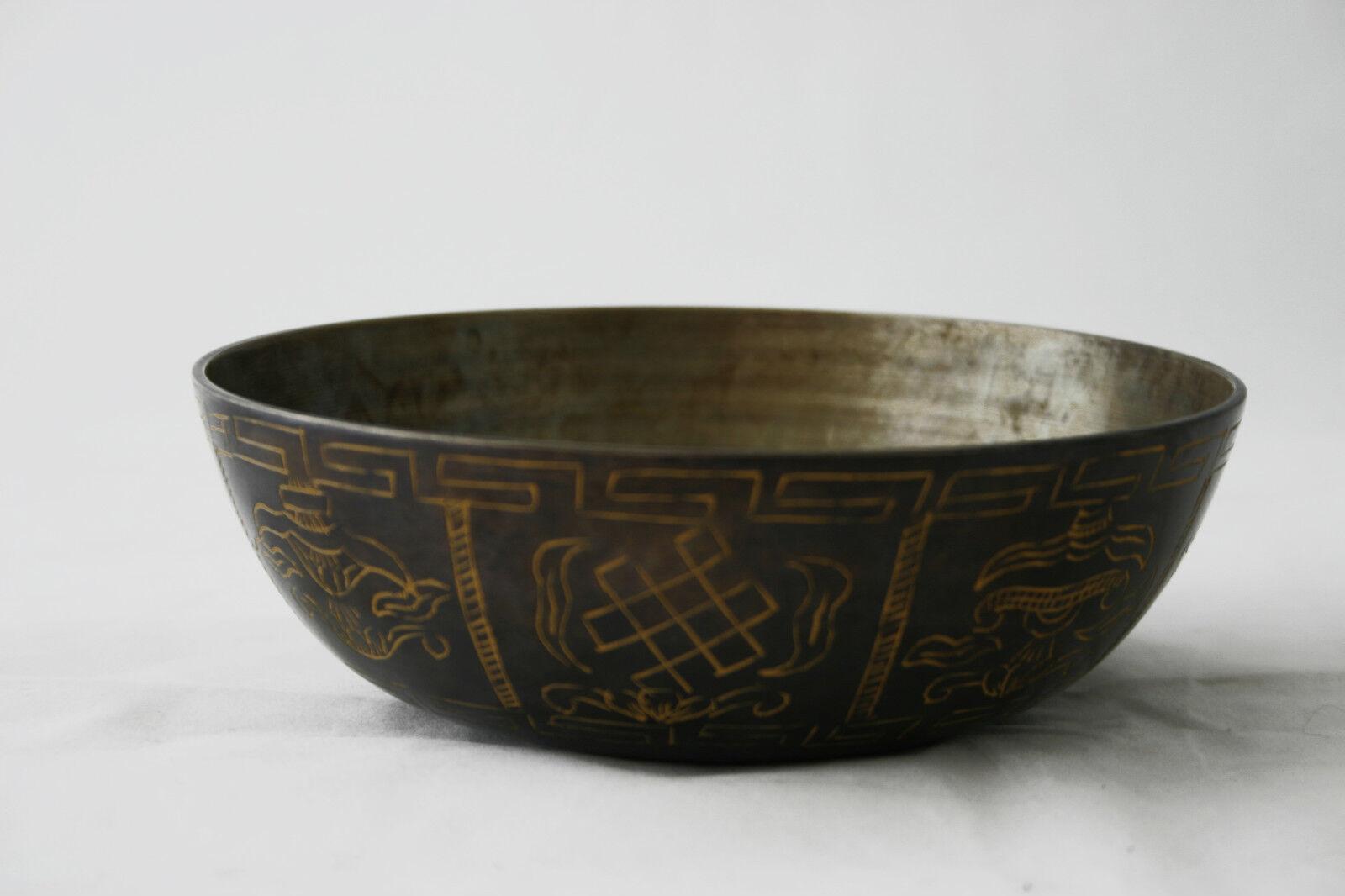 Klangschale Assam Singing bowl Halsschale Schulterschale Tibet Hörprobe 450g M64