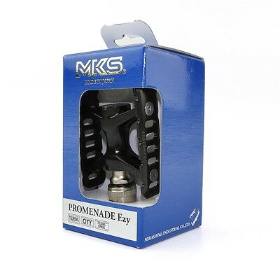 "MKS Promenade Ezy 9//16/"" Road Touring Bike Quick Release Aluminum Pedals Titan"