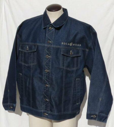 Vintage ROCA WEAR Men's Dark Blue Denim Jeans Jack