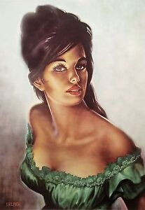 Tina-by-J-H-Lynch-from-the-Tretchikoff-Era-Vintage-Kitsch-Art-Print-Size-A3