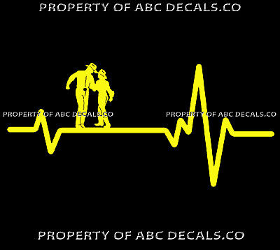 VRS Heart Beat Line COUNTRY ROMANCE Cowboy Cowgirl Hat Western CAR VINYL DECAL