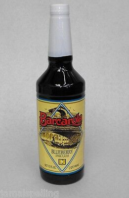 Gourmet BLUEBERRY Syrup 32oz. Barcarola Coffee Drink & Italian Soda Flavor
