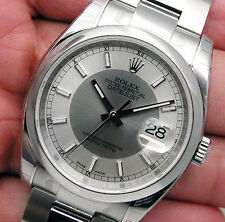Rolex DATEJUST 116200 Mens Stainless Steel Silver & Steel BULLSEYE Dial 36MM