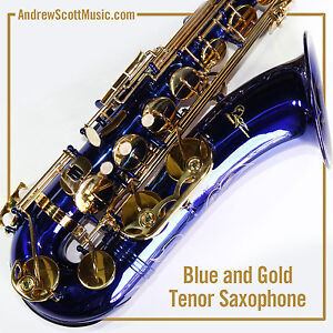 Tenor-Saxophone-Blue-New-in-Case-Pro-Quality