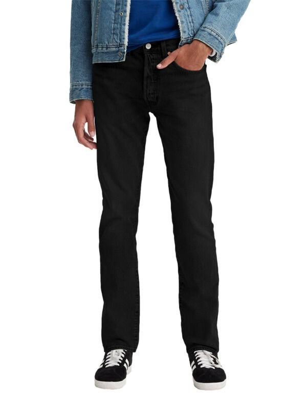 Levis® Herren Jeans Jeanshose Herrenjeans 501® Slim Tapered Schwarz Black Black