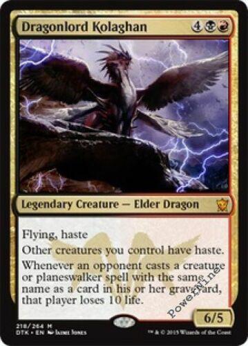 1 FOIL Dragonlord Kolaghan Gold Dragons of Tarkir Mtg Magic Mythic Rare 1x x1