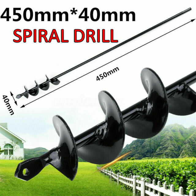 """9/""""//15/'/' Planting Auger Spiral Hole Drill Bit For Garden Yard Earth Bulb Planter"""