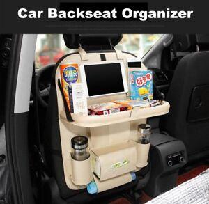 Auto Back Seat Storage Bag Folding Car Backseat Organizer Leather