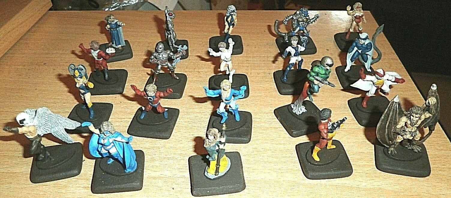 Raro 1984 Granadero Campeones 25 Villanos & Héroes Metal Miniatura Set