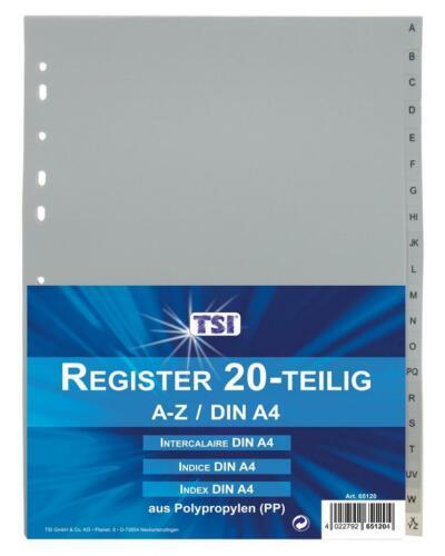 DIN A4 von A-Z aus PP 10x Ordner Register 20tlg