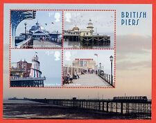 2014 Ms3641a Seaside Architecture / Piers Minisheet - No Barcode Margin.