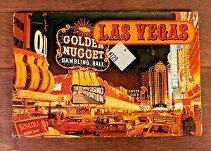 Las-Vegas-Postcard-Book-Album-Vintage-Photos-70s-80s-Foldout-Cars-Casino-Sinatra