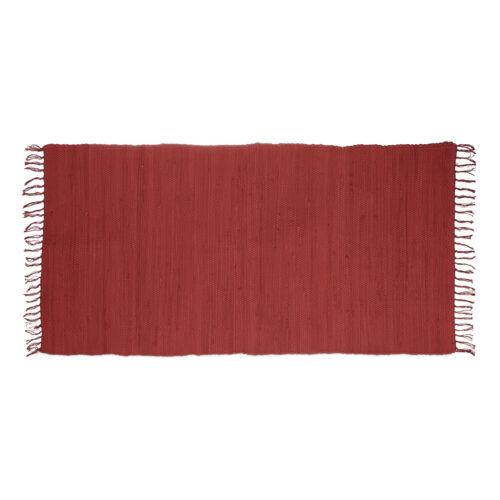 Handmade Cotton Runner for Hallway Rag rug with fringes
