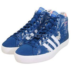 e2afc0c37e74 Adidas Originals Basket Profile Hi-Top Trainers Lace Up Womens Boots ...