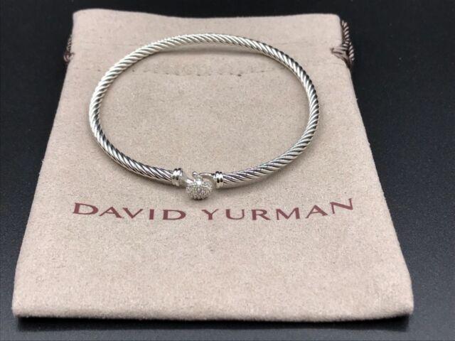 5e1d819e89a40b David Yurman Cable Collectibles Snowflake & Diamonds Bracelet, 3mm NWOT $750