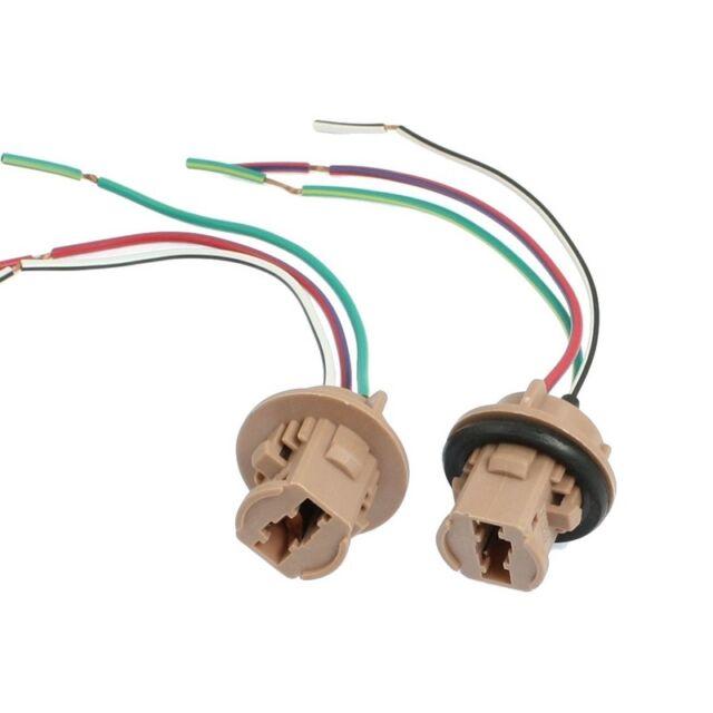 A9H8 2 Pcs T20 7443 LED Bulb Brake Turn Signal Light Sockets