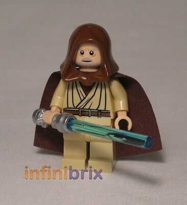 Hair NEW sw336 Old Lego Obi-Wan Kenobi from Set 7965 Millennium Falcon Hood