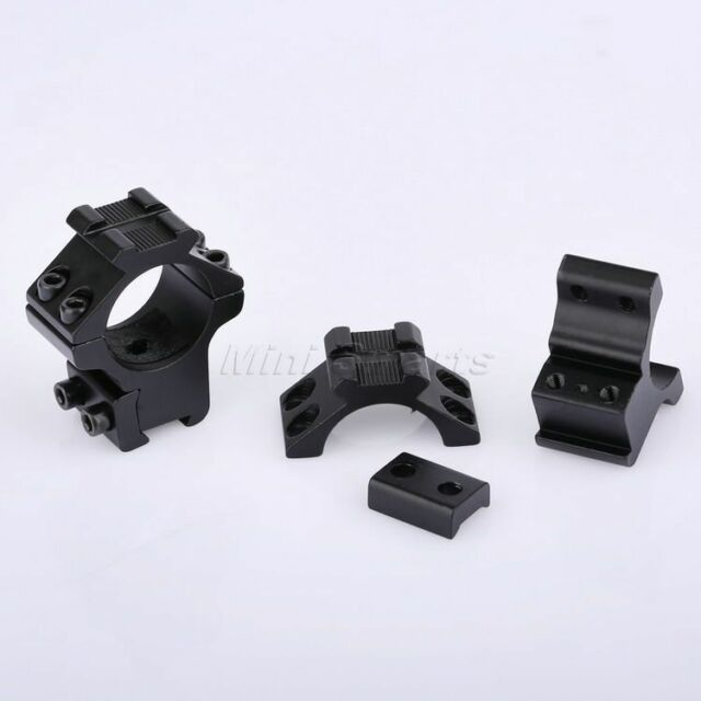 """2pcs Tactical Low Profile 1"""" Scope Rings Flat Top fits 11mm Dovetail Rail Mount"""
