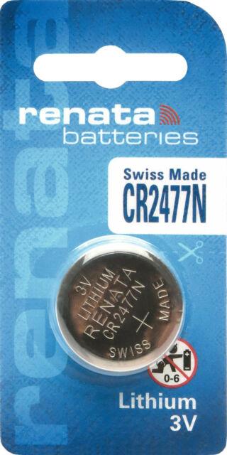 950 mAh 20x Renata CR2477 3V Lithium Batterie Knopfzelle 20x1er Blister
