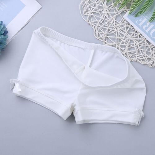 Kid Girls Gymnastic Shorts Bottoms Boy-cut Elastic Dance Sport Pants Activewear