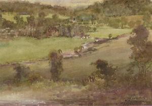 Orlando-Greenwood-RBA-1892-1989-Early-20th-Century-Watercolour-Landscape