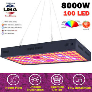 8000W LED Plant Grow Light for Indoor Plants Hydro Veg Flower Replace HPS HID BE
