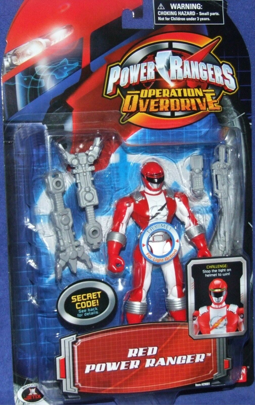 Power Power Power Rangers Operation Overdrive 5  Red Ranger Factory Sealed New 2006 5aeb98