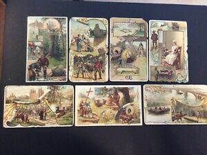Vintage Arbuckle's Ariosa Coffee 1880-1890's Trade Cards Lot of 7 US States
