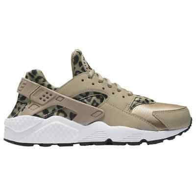 Nike Air Huarache 725076,200 Leopard Print Animal Khaki Womens Size 5.5