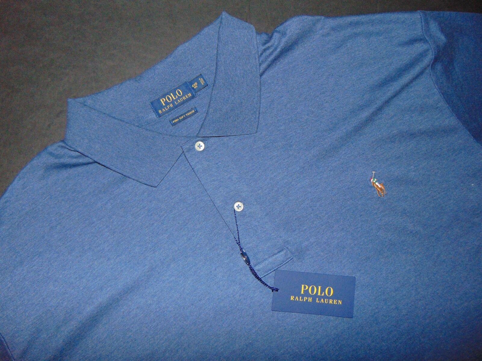 NWT, POLO by RALPH LAUREN Polo Shirt  4XB  Big & Tall  bluee