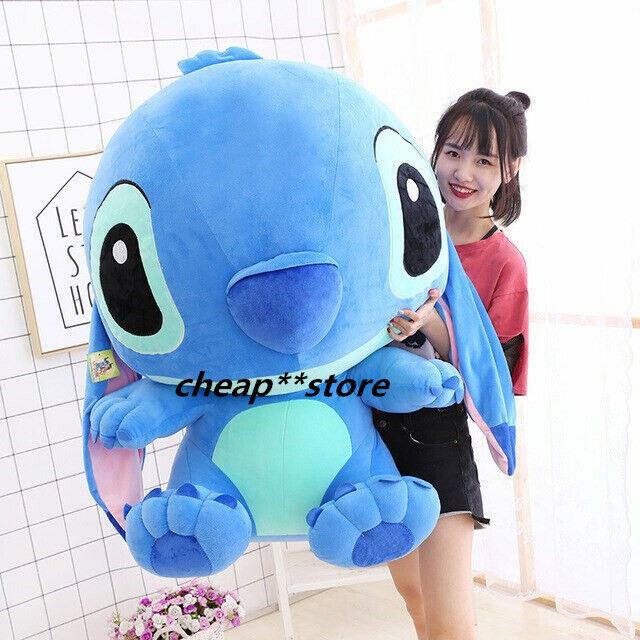 Cute 40  100cm Giant Hung Lilo & Stitch Toys Stuffed Plush Soft Doll Pillow