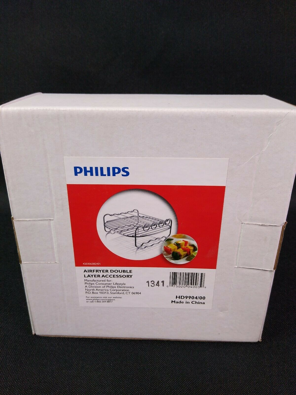 Philips Kitchen FBA/_HD9904//00 Philips HD9904//00 Double Layer Rack with Skewers for Compact Model Airfryers Silver