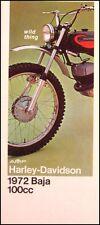 1972 Harley-Davidson Baja 100 ORIGINAL Brochure AMF
