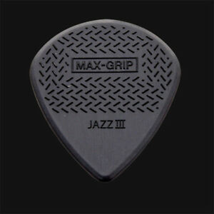 Dunlop-Max-Grip-Jazz-III-Guitar-Picks-Black-1-2-3-4-5-6-10-12-20-24-36