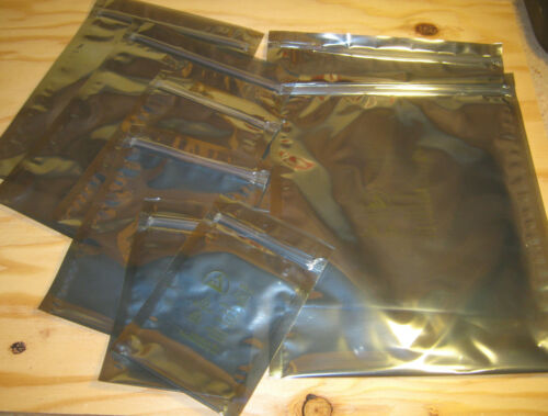 Survivalists Preppers EMP FARADAY CAGE ESD BAGS 12 BAGS IN 6 ASSORTED SIZES
