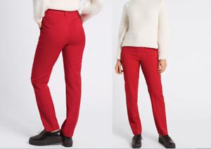 M/&S COLLEZIONE Misto Lana Pantaloni Gamba Dritta PRP £ 49.50