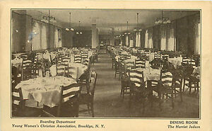Image Is Loading BROOKLYN NY YWCA DINING ROOM 1916 P C