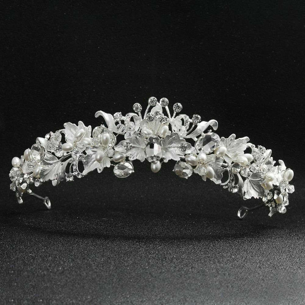 Crystal Tiara Bridal Rhinestone Pageants Queen Crown Headband Wedding Bride Hair