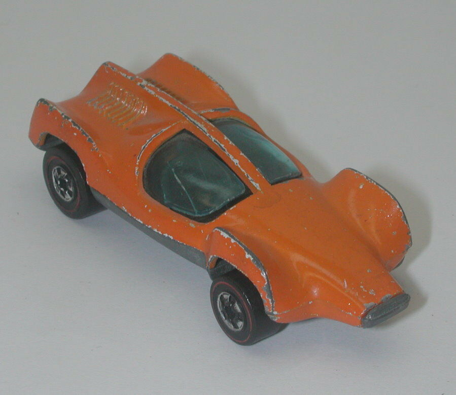 Redline Hotwheels orange 1973 Double Vision oc17458
