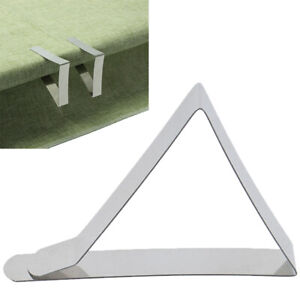 10pcs-Map-Table-Holder-Clip-Stainless-Steel-Tablecloth-Clips-Cloth-Cover-ClampUR