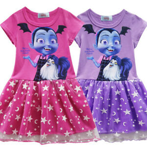 34a84fc6734 Details about Kids Girls Vampirina Cartoon Cosplay Costume Party Dresses  Fancy Dress O125A