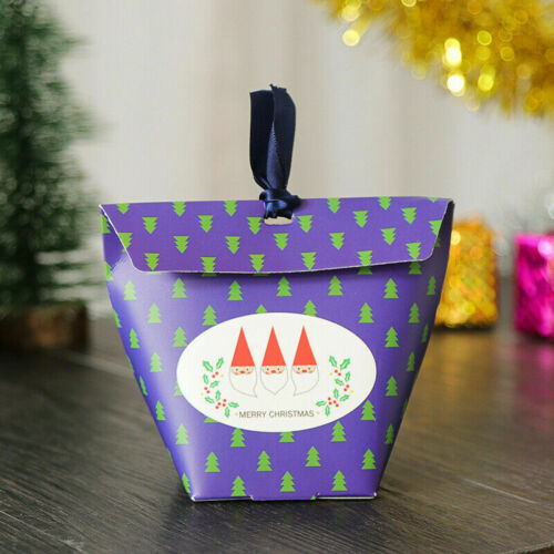 5PCS 2020 Merry Christmas Santa Forest Party Paper Favour Gift Sweets Bags Boxes