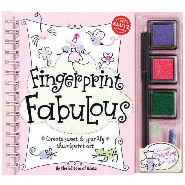 Klutz Fingerprint Fabulous Book - Children's Thumb Doodles Craft Activity Book