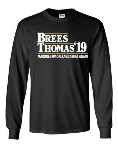 "BLACK Drew Brees Michael Thomas New Orleans Saints /""New Orleans Great/""  T-Shirt"