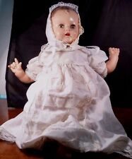 """Vintage 1950s Baby Doll IDEAL DOLL P200  20"""" long  Gown, Bonnet,Socks and Shorts"""