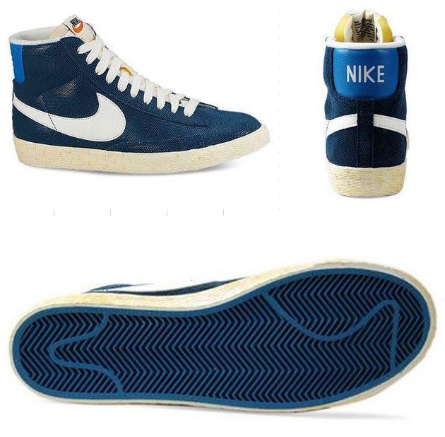 Nike Blazer Mid force/lacque Suede Vintage Gr 36,5 blue force/lacque Mid 518171 407 c5e532