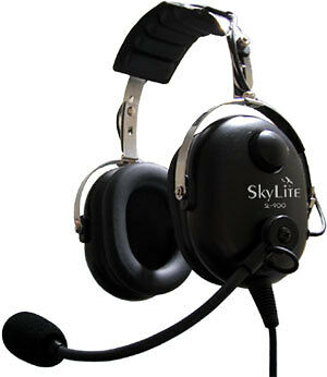 Dual Plug FREE BAG SL-900 SkyLite Aviation Pilot GA Headset w// Gel Seal