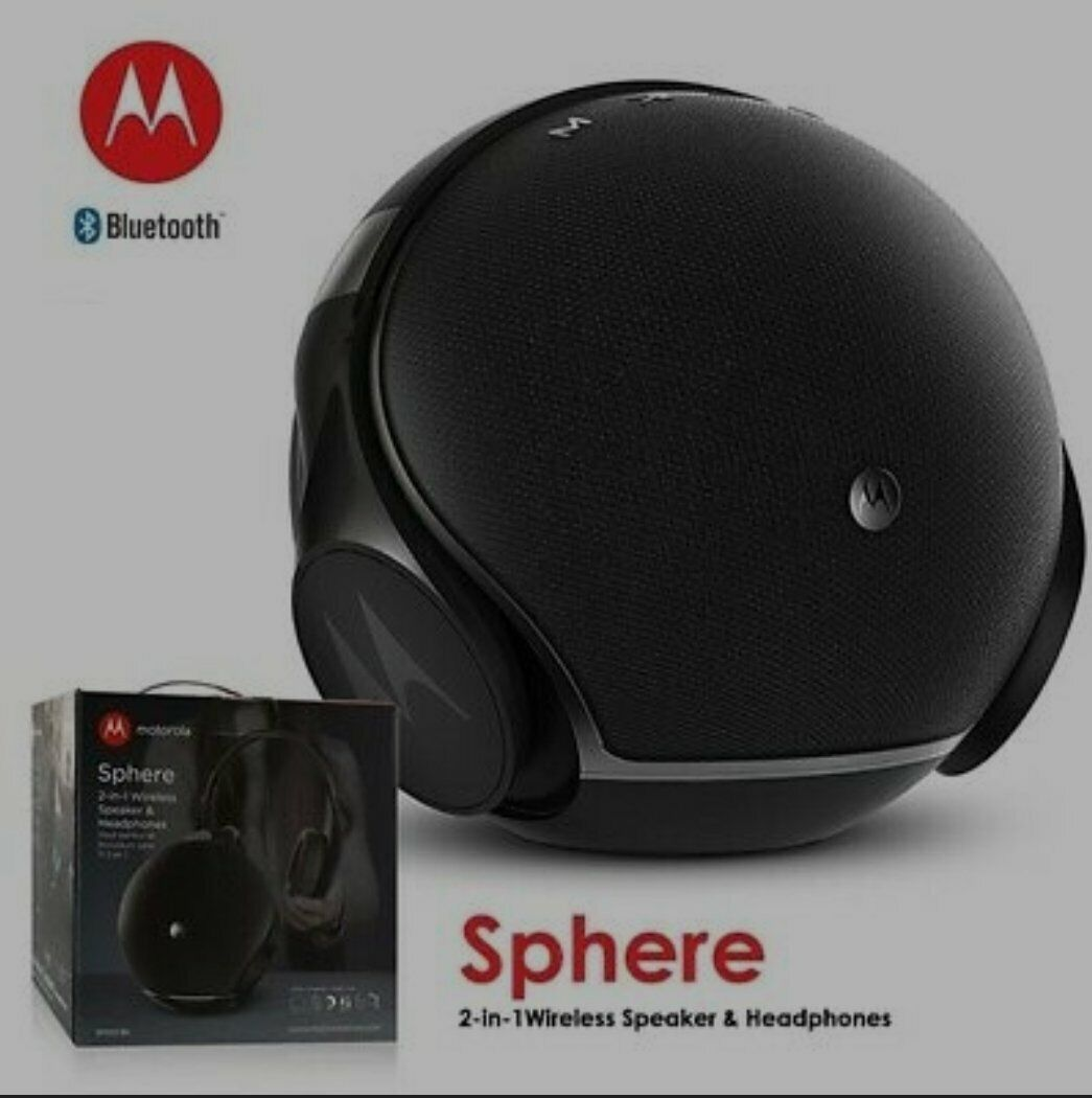 Motorola Sphere 2 In 1 Bluetooth Wireless Speaker Headphones Sp003 A Bk For Sale Online Ebay
