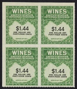 #RE147 $1.44 Wines, Bock of 4, Mint NGAI NH [1] **ANY 4=FREE SHIPPING**